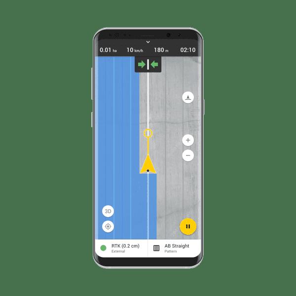 FieldBee tractor GPS navigation app